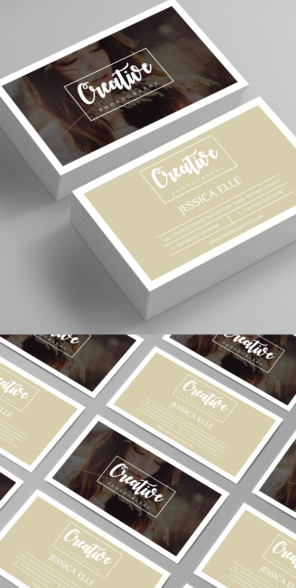 26 Modern Free Business Cards PSD Templates - 22