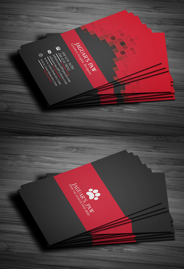26 Modern Free Business Cards PSD Templates - 25