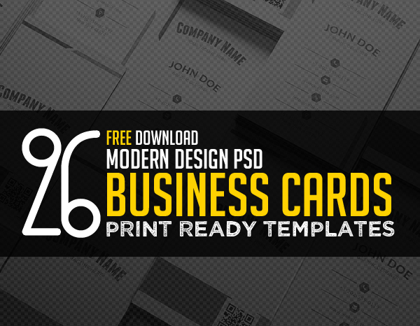 26 Modern Free Business Card Templates – PSD Print Ready Design