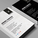 Post Thumbnail of Freebie - Vertical Business Card PSD Template