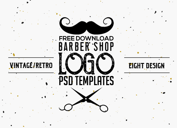 Free Vintage Barber Shop Logo Templates (PSD)