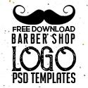 Post thumbnail of Free Vintage Barber Shop Logo Templates (PSD)