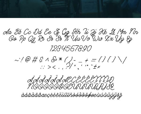 Aamonoline Font Letters