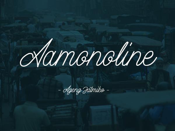 Aamonoline Free Font