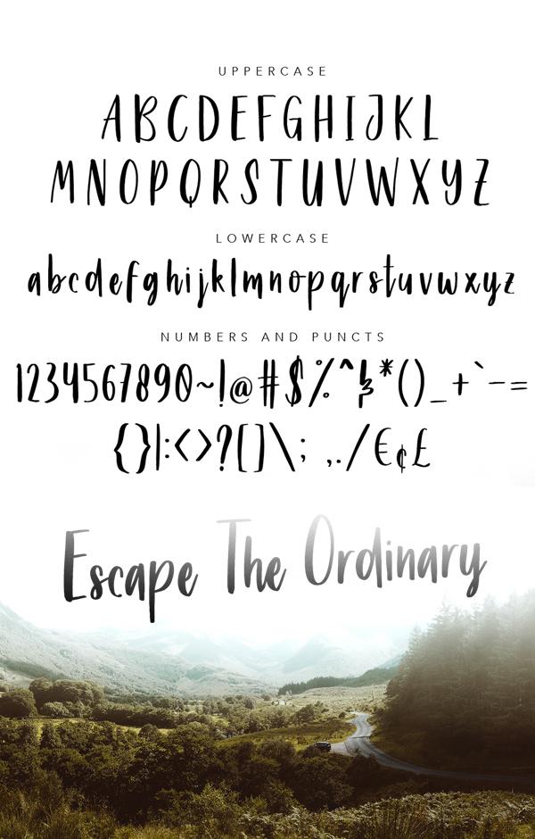 Beyouty Script Font Letters