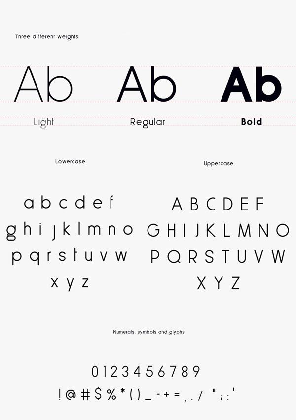 Less Sans Minimal Font Letters