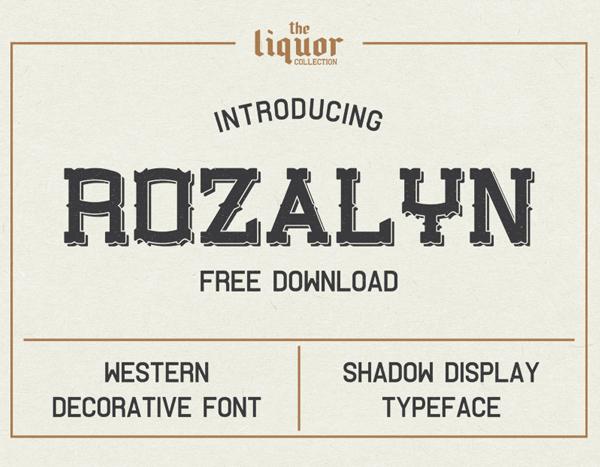 Rozalyn Shadow Free Font