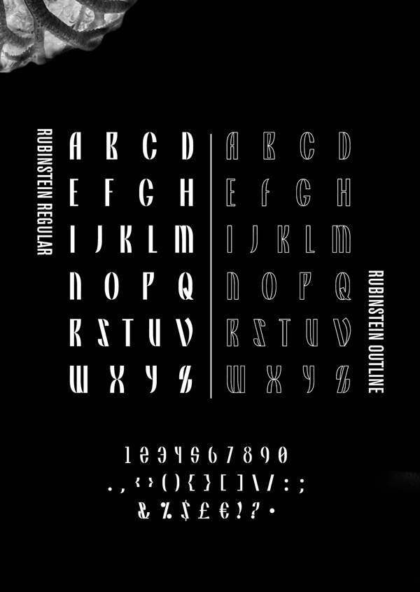 Rubinstein Font Letters