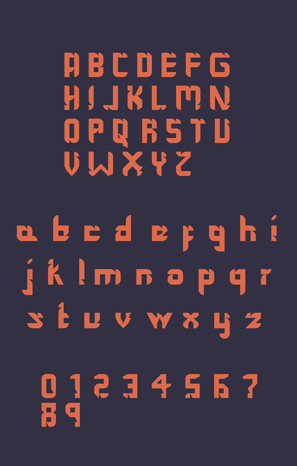 The Shark Fin Typo Font Letters