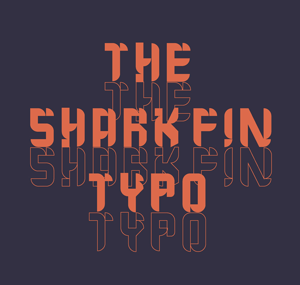 The Shark Fin Typo Free Font