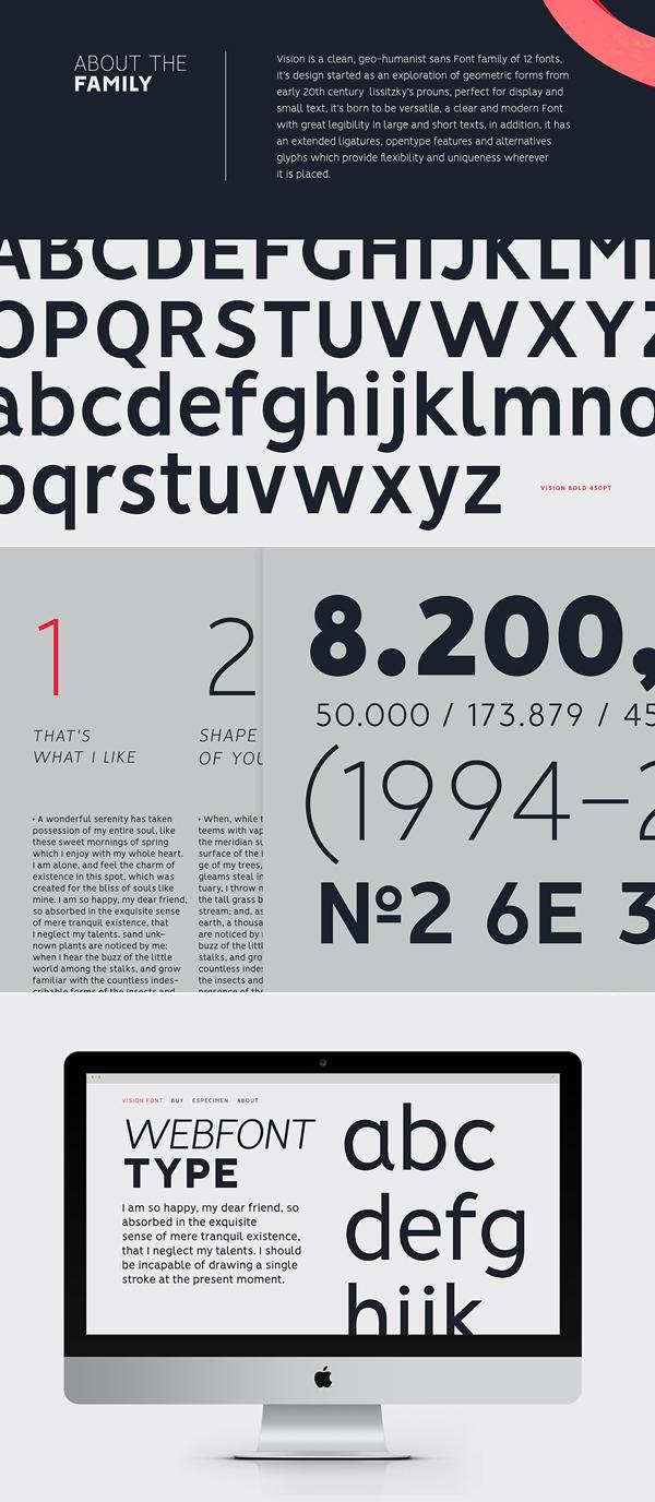 VISION Font Letters