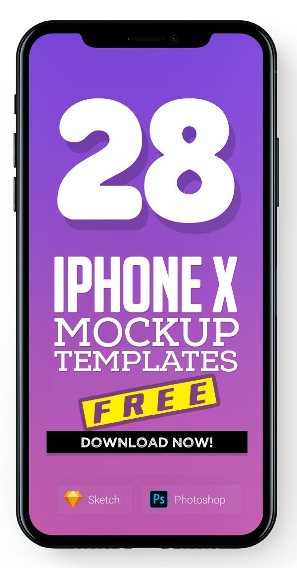 Free iPhone X Mockup Templates (28 Mock-ups)
