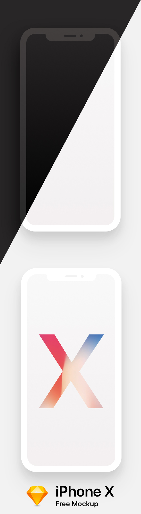 Free Download iPhone X PSD Mockups and Sketch - 28
