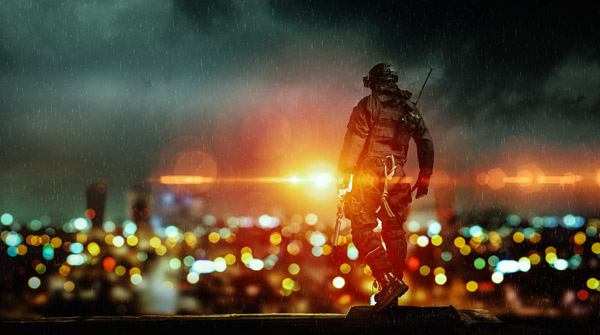 Create a Battlefield Game Inspired Artwork in Photoshop