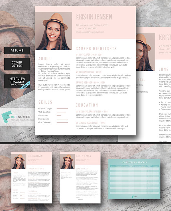 Sugar & Spice Premium Resume Set Lets Your Personality Shine Through