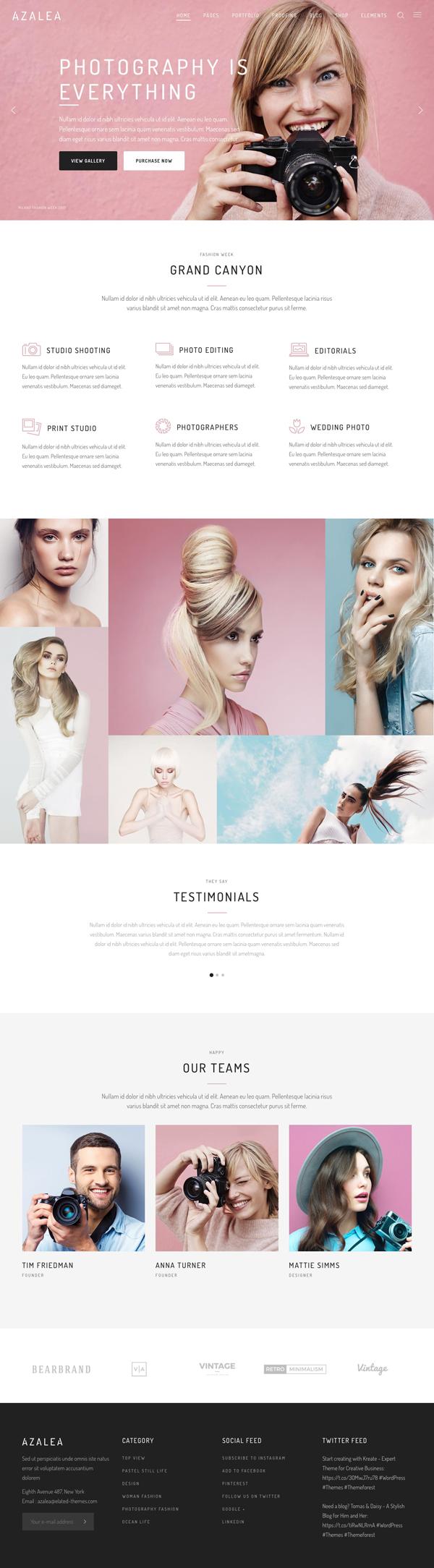Azalea - A Fresh and Fashionable Photography Theme