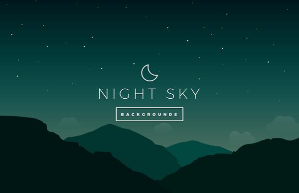 Night Sky Vector Backgrounds