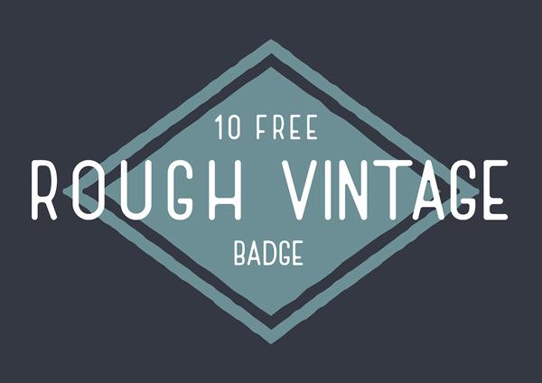 Free Rough Vintage Badge Vector