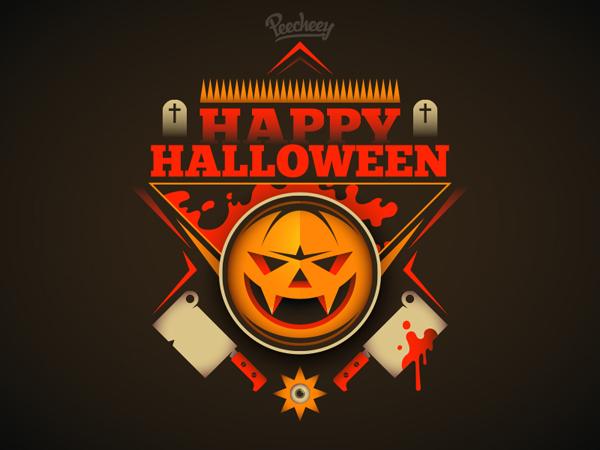 Free Scary Halloween Illustration Vector