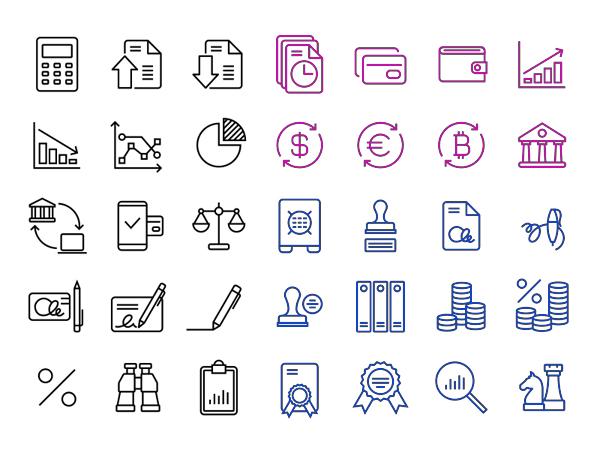 Beautiful Free Finance/Accounting 36 Icons