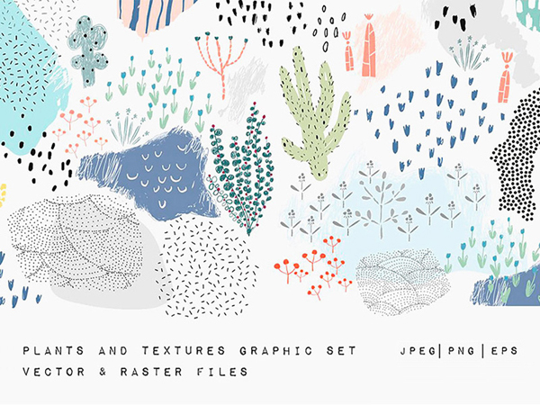 Free Vector Plants and Textures