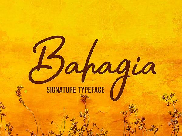 Bahagia Free Font