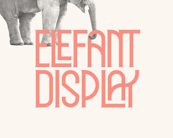 Elephant Display Free Font