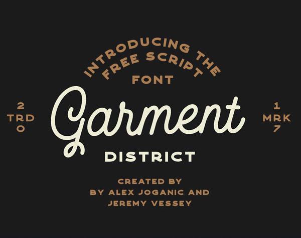 Garment District Free Font