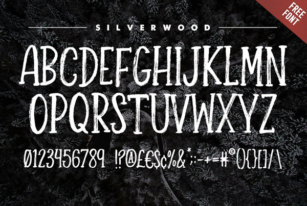 Silverwood Free Font Letters