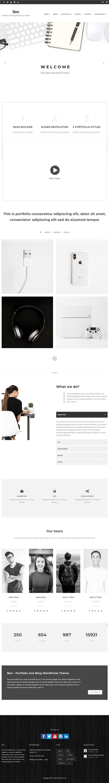 Beo - Portfolio and Blog WordPress Theme