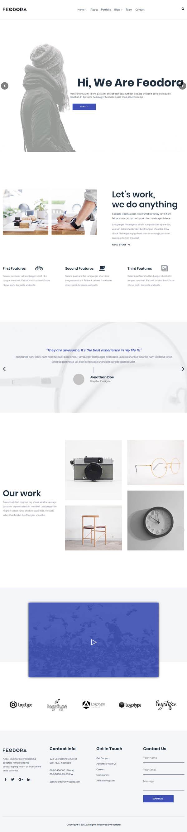 Feodora Creative WordPress Theme