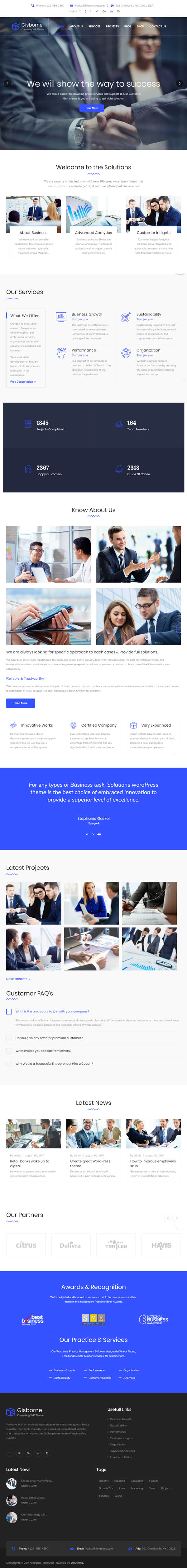 Gisborne - Business, Finance and Consulting WordPress Theme