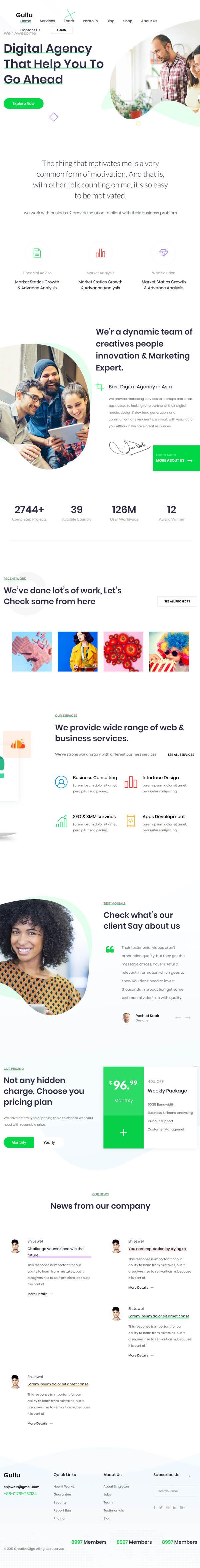 Gullu - Creative Digital Agency & Multipurpose WordPress Theme