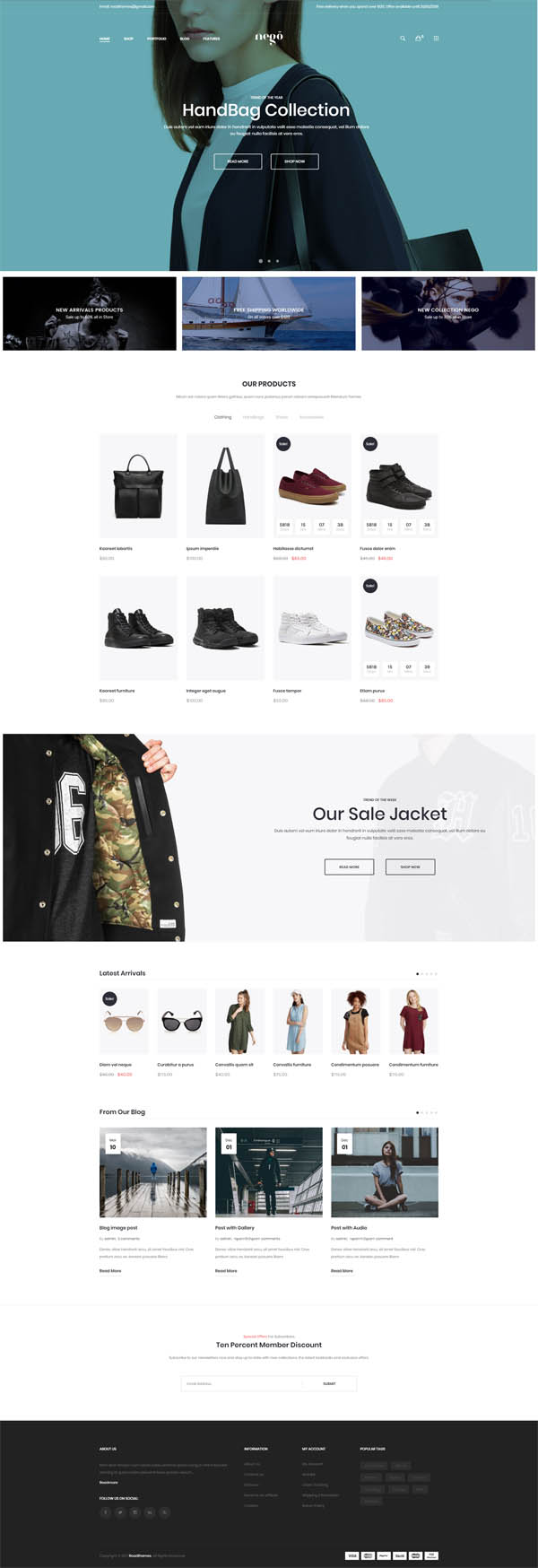 Nego - Fashion and Furniture Theme for WooCommerce WordPress