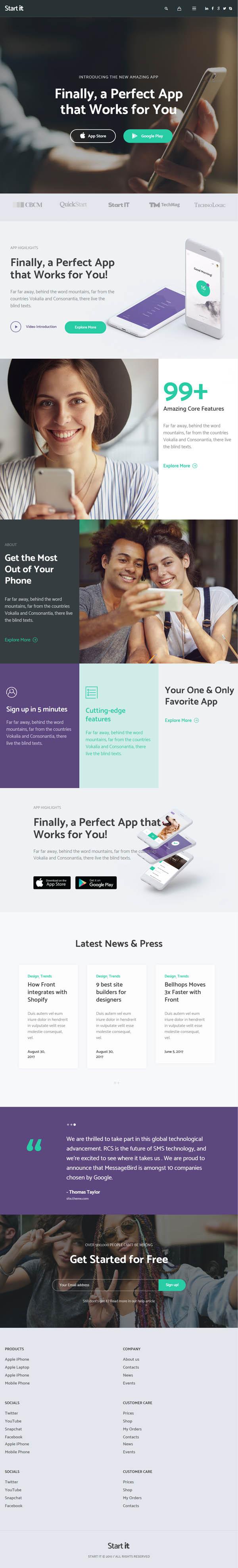 Start It - Technology & Startup WP Theme