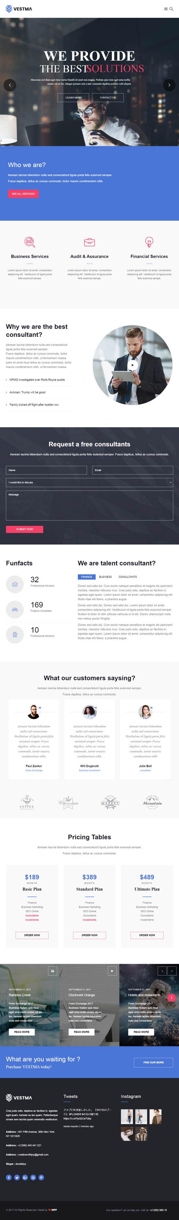 VestMa - Business, Consulting, Corporate WordPress Theme