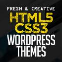 Post thumbnail of New Fresh HTML5 WordPress Themes