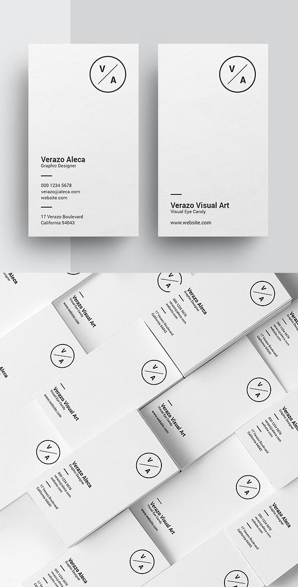 Clean Minimalist Business Card