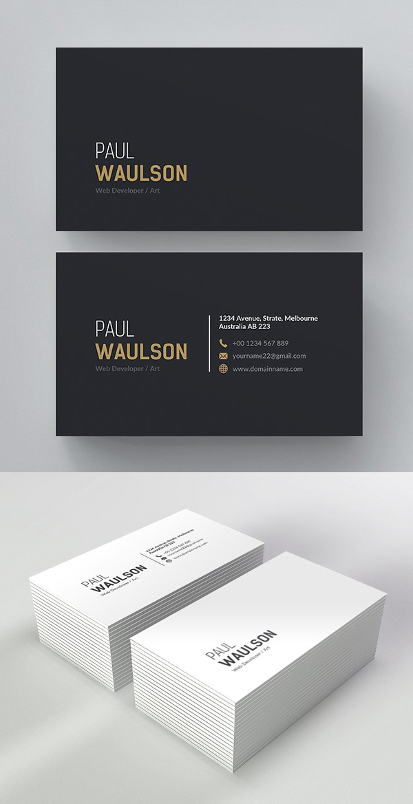 Clean Multipurpose Business Card Template