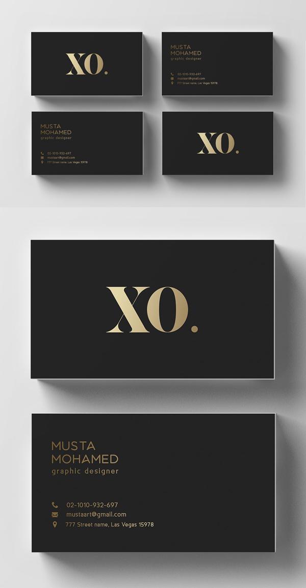 Minimal Black & Gold Business Card