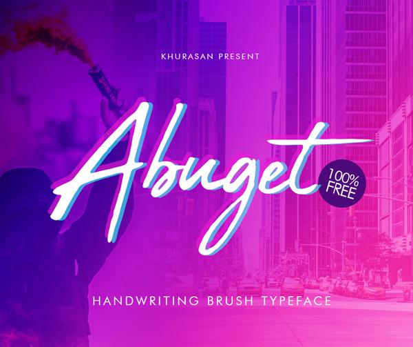 Abuget Brush Free Font