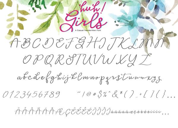 Huh! Girls Font Free Download