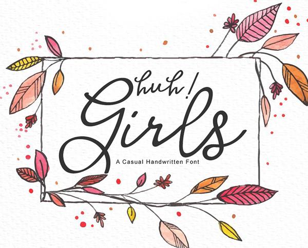 Huh! Girls Free Font