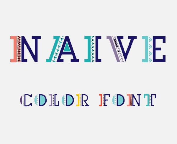 Naive color Free Font