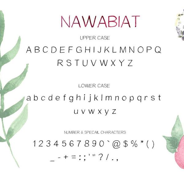 Nawabiat Handwriting Font Free Download