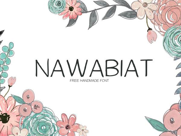 Nawabiat Handwriting Free Font
