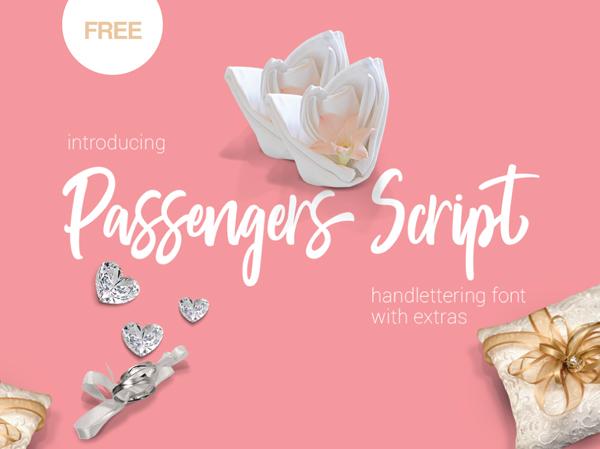 Passengers Script Free Font