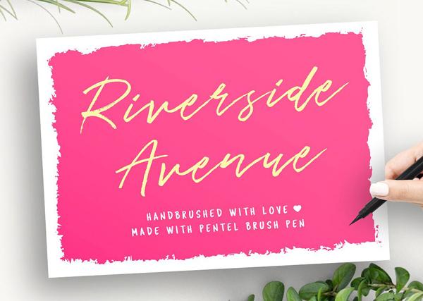 Riverside Avenue (hand brushed) Free Font
