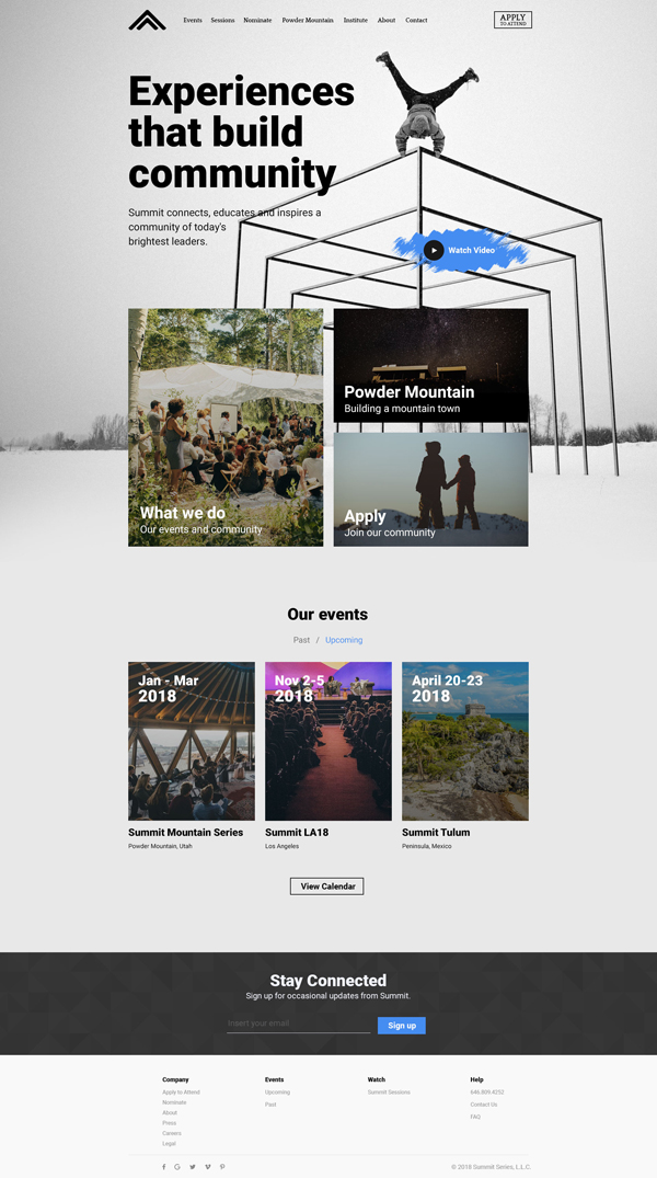 Free Event, Blog Landing Page PSD Template