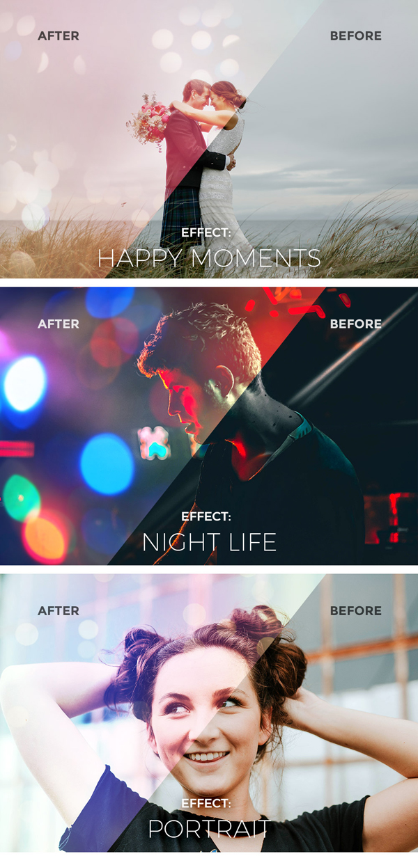 Light & Bokeh Photo Effects Free PSD Download